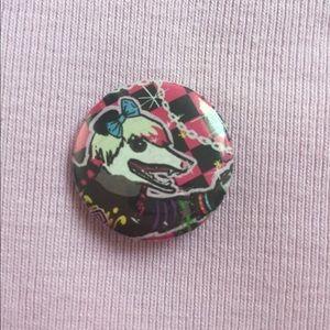 Edgy Possum rat pin